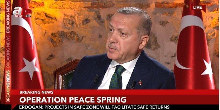 اردوغان از اقدام تازه ترکیه در صورت تحریم های آمریکا اطلاع داد