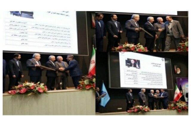 تجلیل از استاندار آذربایجان شرقی و رئیس دانشگاه تبریز به عنوان برگزیدگان پژوهش و فناوری